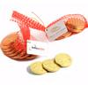 CONF-515 x 10 Chocolate Coins in Mesh Bag