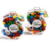 CONF-535 Acrylic Dollar filled with Mini M&Ms 40g