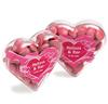 CONF-540 Acrylic Heart filled with Choc Beans 50g