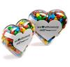 CONF-545 Acrylic Heart filled with Mini M&Ms 50g