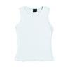 SIL-25-W Ladies, White Carey Singlet (Printed)