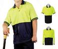 ECLTH-265 Justin Hi Vis Long Sleeve Polo (Embroidered)
